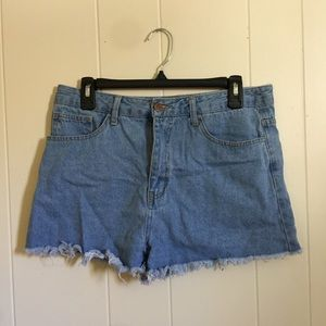 Forever 21 high rise cut off 29 jean shorts